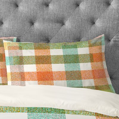 Zoe Wodarz Pastel Plaid Pillowcase Size: King