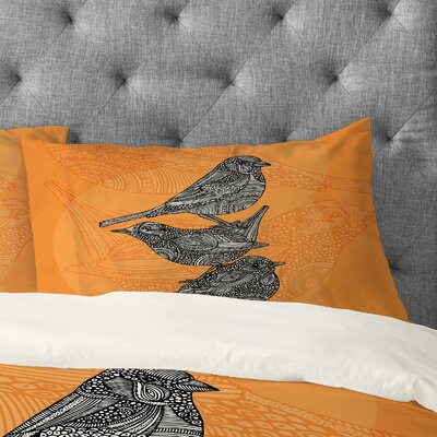 Valentina Ramos 3 Little Birds Pillowcase Size: Standard