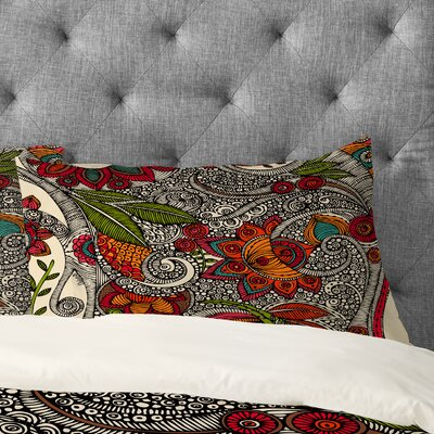 Valentina Ramos Random Flowers Pillowcase Size: King