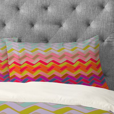 Sharon Turner Geo Chevron Pillowcase Size: Standard