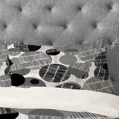 Rachael Taylor Textured Geo Pillowcase Size: Standard, Color: Grey / Black