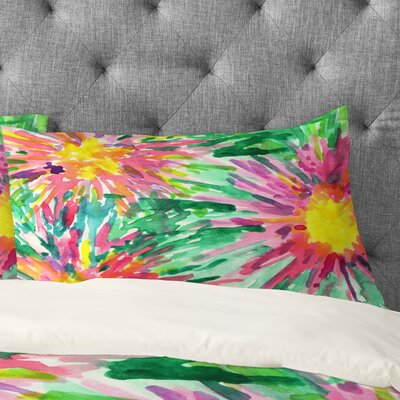 Joy Laforme Floral Confetti Pillowcase Size: King