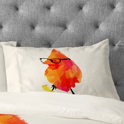 Robert Farkas Punk Bird Pillowcase Size: King