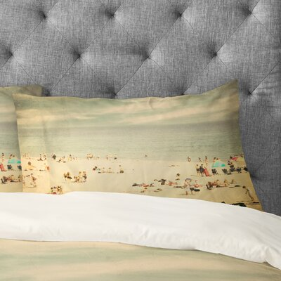 Shannon Clark Vintage Beach Pillowcase Size: Standard