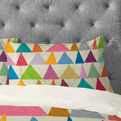 Nick Nelson Analogous Shapes In Bloom Pillowcase Size: King