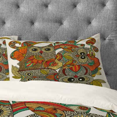 Valentina Ramos 4 Owls Pillowcase Size: King