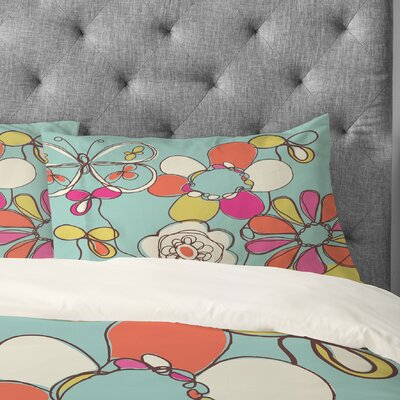 Rachael Taylor Fun Floral Pillowcase Size: King
