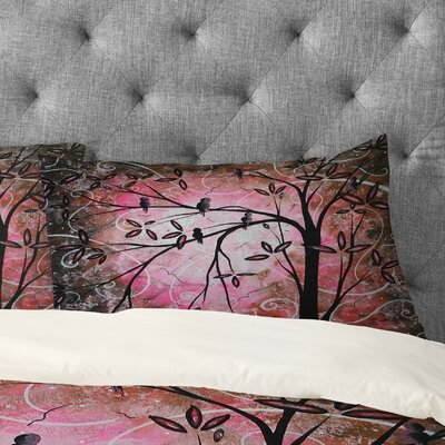 Cherry Blossoms Pillowcase Size: Standard
