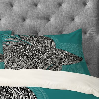Valentina Ramos Beta Fish Pillowcase Size: King