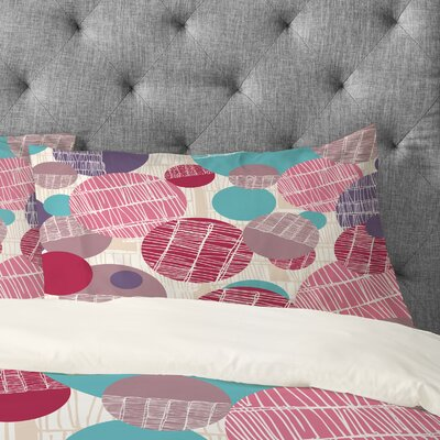Rachael Taylor Textured Geo Pillowcase Size: King, Color: Multi