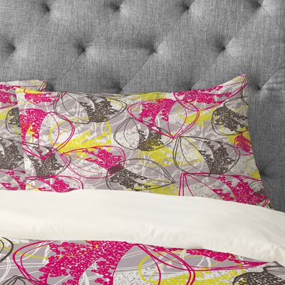 Rachael Taylor Organic Retro Leaves Pillowcase Size: King