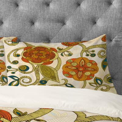 Valentina Ramos Flowers Pillowcase Size: King
