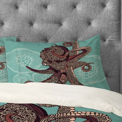 Valentina Ramos Octopus Bloom Pillowcase Size: King