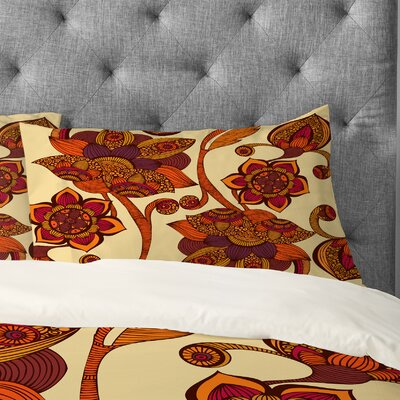Valentina Ramos Boho Flowers Pillowcase Size: King