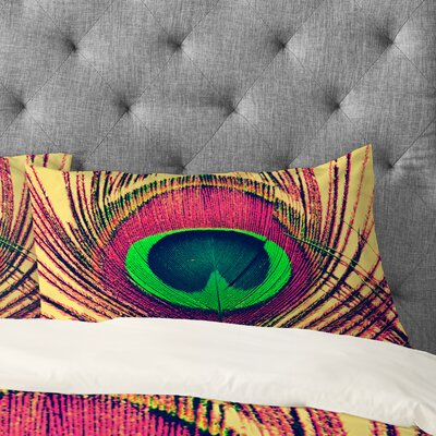 Shannon Clark Peacock 2 Pillowcase Size: King
