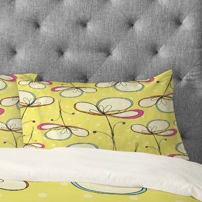 Rachael Taylor Floral Umbrellas Pillowcase Size: King