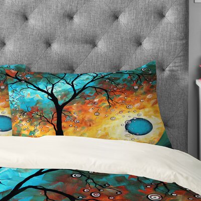 Aqua Burn Pillowcase Size: King