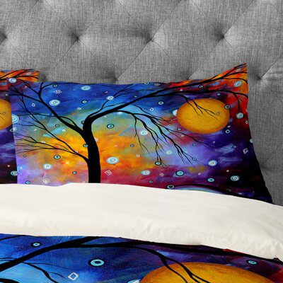 Madart Inc Winter Sparkle Pillowcase Size: King