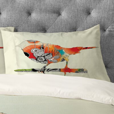 Iveta Abolina Little Bird Pillowcase Size: King