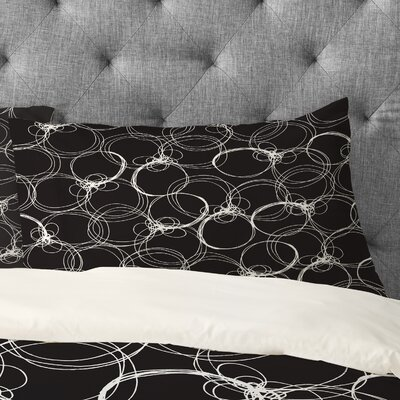 Rachael Taylor Circles Pillowcase Size: King, Color: Black