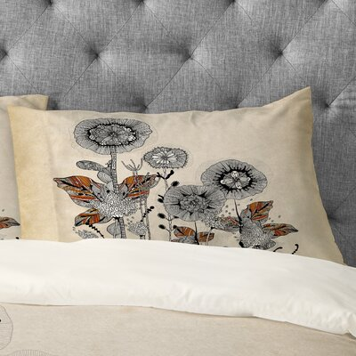Iveta Abolina Floral 3 Pillowcase Size: King
