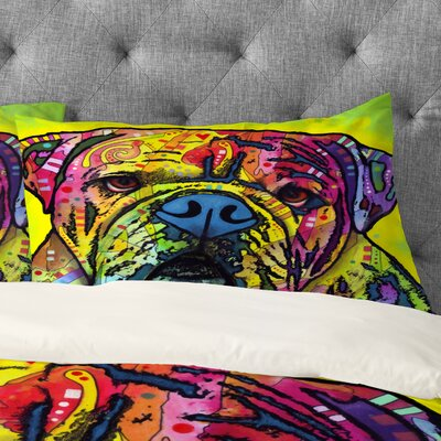 Dean Russo Hey Bulldog Pillowcase Size: King