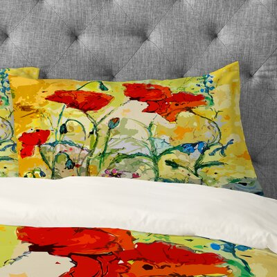Poppies Provence Pillowcase Size: Standard