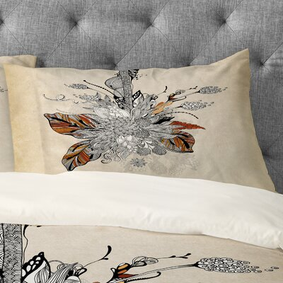 Iveta Abolina Floral 2 Pillowcase Size: King