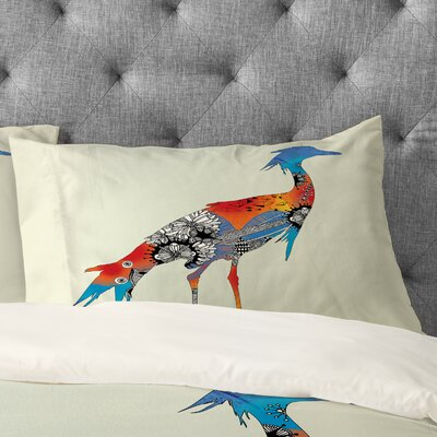 Iveta Abolina Bluebird Pillowcase Size: King