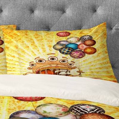 Jose Luis Guerrero Monster Pillowcase Size: King