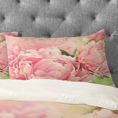 Peonies Pillowcase Size: King
