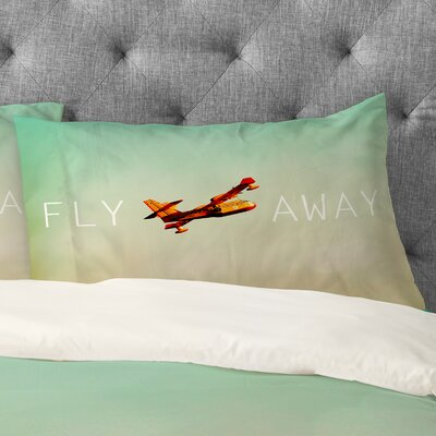 Happee Monkee Fly Away Pillowcase Size: King