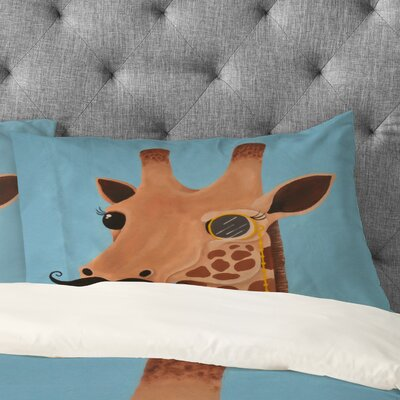 Mandy Hazell Gentleman Giraffe Pillowcase Size: Standard