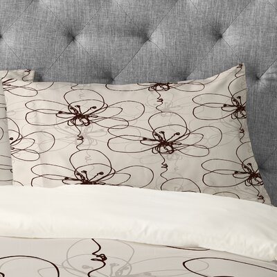Rachael Taylor Tonal Floral Pillowcase Size: King