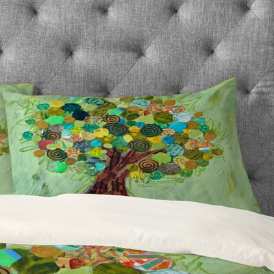 Elizabeth St Hilaire Nelson Spring Tree Pillowcase Size: King