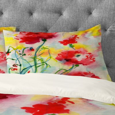 Ginette Fine Art If Poppies Could Only Speak Pillowcase Size: King