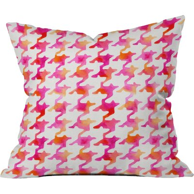 Betsy Olmsted Watercolor Houndstooth Indoor/Outdoor Throw Pillow Size: Large