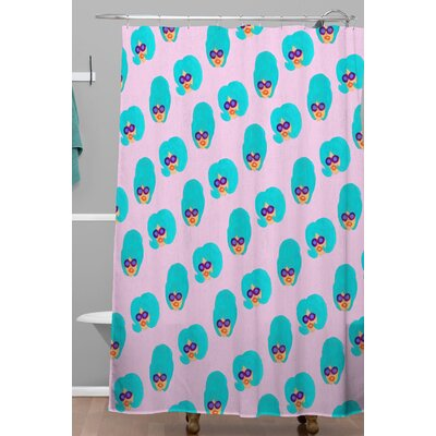 Bouffants and Broken Hearts Colorful Girl Shower Curtain