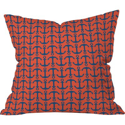 Andrea Victoria Ahoy Anchors Throw Pillow Size: Small