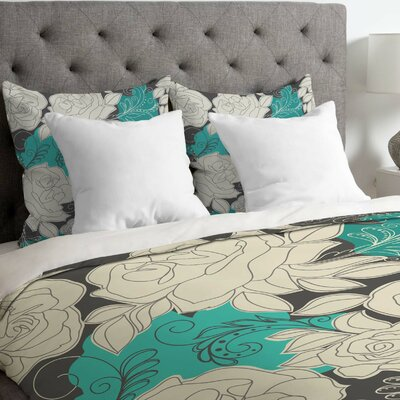 Khristian A Howell Lightweight Rendezvous Duvet Cover Size: Twin, Color: White