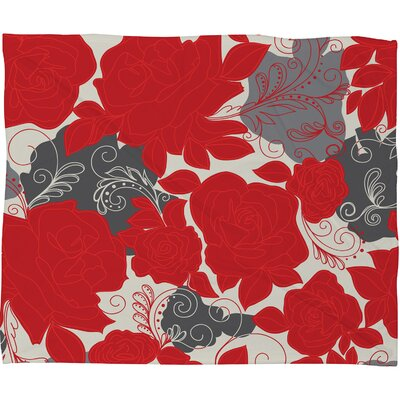 Khristian A Howell Rendezvous Throw Blanket Size: Large, Color: Red