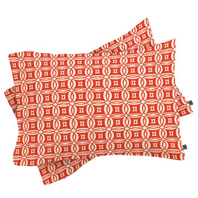 Khristian A Howell Desert Pillowcase Color: Red, Size: Standard