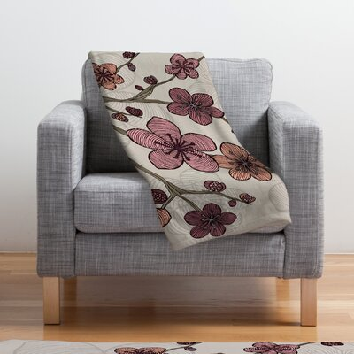 Valentina Ramos Blossom Throw Blanket Size: Medium