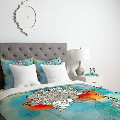 Coral Duvet Cover Size: Queen, Fabric: Lightweight
