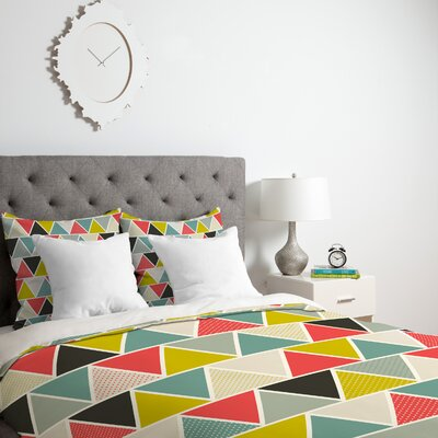 Triangulum Duvet Cover Size: King, Fabric: Lightweight