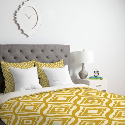 Heather Dutton Trevino Duvet Cover Size: King, Fabric: Lightweight