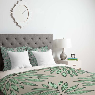 Gabi Mint Duvet Cover Size: Queen, Fabric: Lightweight