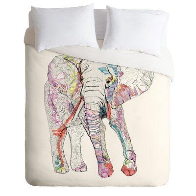 Casey Rogers Lightweight Elephant Duvet Cover Size: Twin