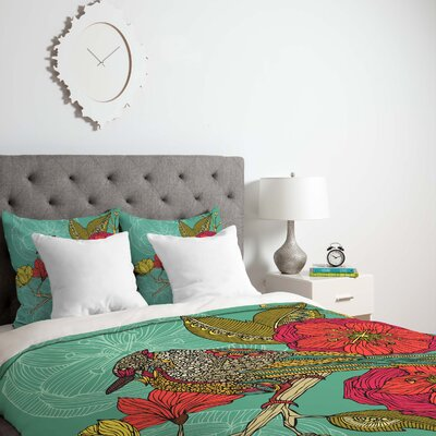 Valentina Ramos Contented Constance Duvet Cover Size: King, Fabric: Lightweight