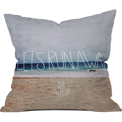 Leah Flores Lets Run Away III Throw Pillow Size: Small